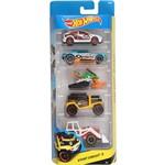 Hot Wheels Pacote com 5 Carros Stunt Circuit 5 - Mattel