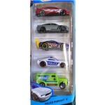 Hot Wheels Pacote com 5 Veículos Police Pursuit - Mattel