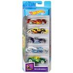 Hot Wheels Pacote Presente com 5 Carros Glow Wheels - Mattel