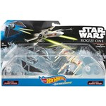 Hot Wheels Star Wars Naves Rogue 1 Pacote 2 Raven Vs X-wing Red5 - Mattel