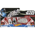 Hot Wheels Star Wars Pacote 2 Naves Tie Figther Vs Millenium Falcon