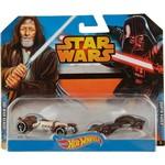 Hot Wheels Star Wars Pacote Obi Wan Kenobi e Darth Vader - Mattel