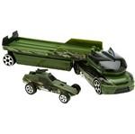 Hot Wheels Trucking Transporter Military Race C0628/L3191 Mattel