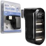 Hub USB 2.0 3 Portas Alta Velocidade Knup Hb-t82