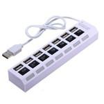 Hub Usb 7 Portas 2.0 Pendrive Mouse Teclado Etc Branco