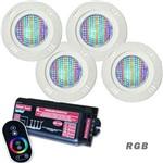 Iluminação Piscina Até 24m² com 4 Refletores Led SMD 5w + Módulo Touch - Sodramar