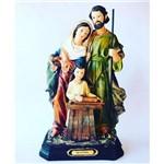 Imagem Escultura Santos Sagrada Familia 30 Cm