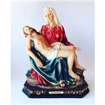 Imagem Resina Escultura Nossa Senhora Pieta 25 Cm