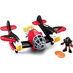 Imaginext Super Aviões Sky Racer - Águia Vermelho - Mattel
