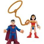 Imaginext Super Friends - Superman e Mulher Maravilha - Mattel