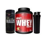 Impact Whey Protein -1.8kg + Waxy Maize - 1,4kg + Coqueteleira!
