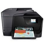 Impressora Multifuncional Hp Officejet Pro 8715 com Wi-Fi/4 em 1 Bivolt - Preta
