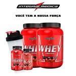 Integral Médica - 2x Whey Wey Proten Nutri 907g Pote Termogênico + Bcaa + Coqueteleira Shaker