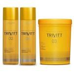 Itallian Trivitt Hidratação Profissional Kit 3x1litro