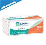 ITI02 - Papel Toalha Santher Interfolhado 2 Dobras Fardo com 2400 Folhas