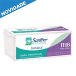 ITI03 - Papel Toalha Santher Interfolhado Folha Tripla Caixa com 2400 Folhas