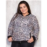 Jaqueta Bomber Plus Size Animal Print G