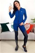 Jaqueta Colcci Fitness Comfort Costura Detalhada - Azul