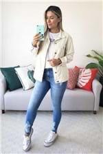 Jaqueta Colcci Sarja Boyfriend Shell - Off White