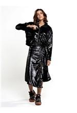 Jaqueta de Veludo Espelhado C/ Adesivo