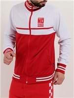 Jaqueta Esportiva Masculina no Stress Branco/vermelho