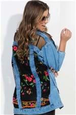 Jaqueta Feminina Jeans Oversized com Renda JA0104 - Kam Bess
