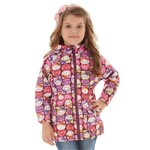 Jaqueta Infantil em Nylon Estampada Hello Kitty
