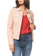 Jaqueta Jeans Color Trucker - Rosa Claro - G