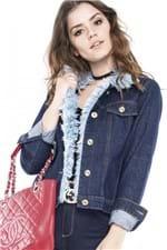 Jaqueta Jeans com Detalhe de Pelo JA0053 - Kam Bess