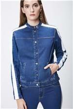 Jaqueta Jeans com Detalhes Feminina