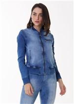 Jaqueta Jeans com Estampa de Caveira