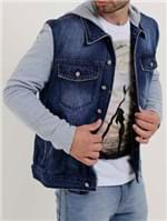 Jaqueta Jeans Masculina Bivik Azul/cinza