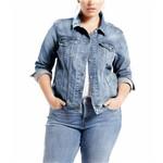 Jaqueta Levis Trucker Plus Size Azul Claro