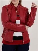 Jaqueta Plus Size Feminina Vermelho