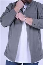 Jaqueta Sarja Plus Size Cinza G