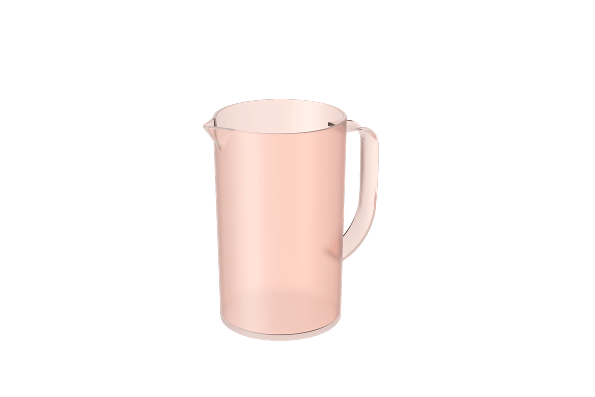 Jarra Casual 1L 15 X 10,7 X 17,9 Cm Rosa Blush Translúcido Coza