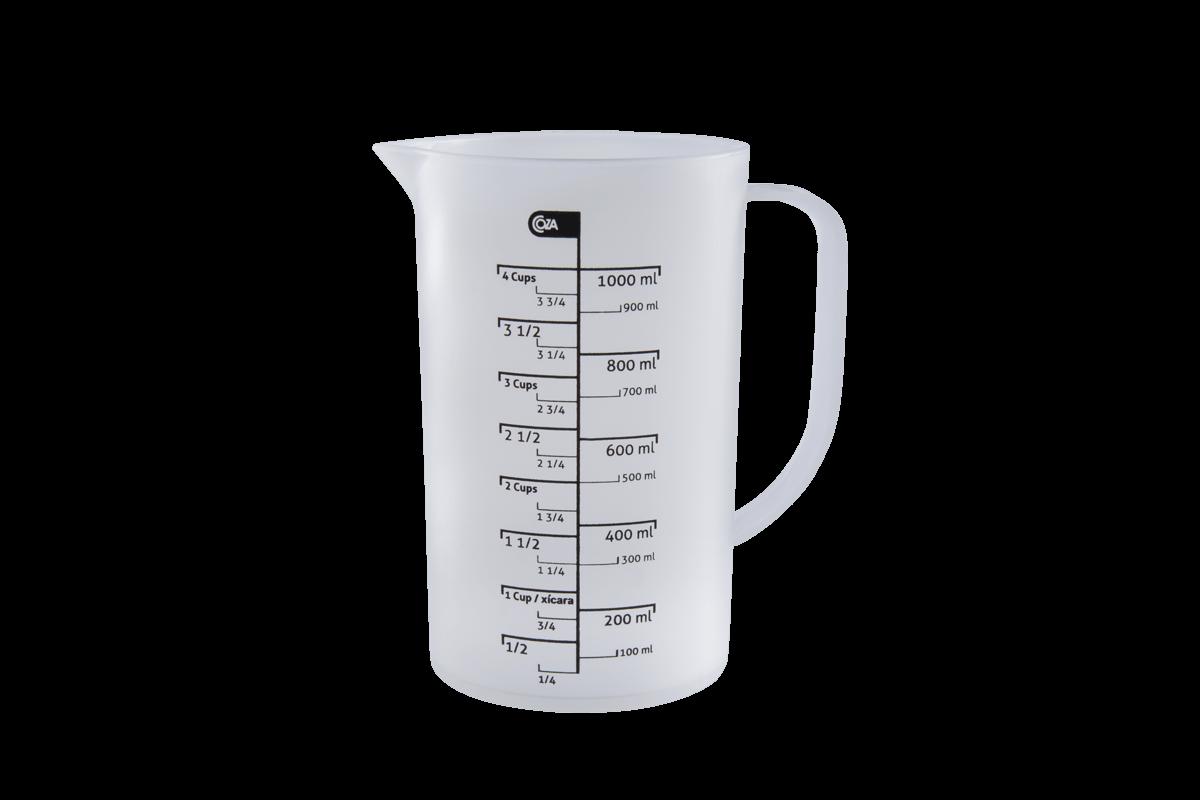 Jarra Medidora 1 L 15 X 10,7 X 17,9 Cm 1 L Natural Coza