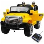 Jipe Amarelo Trilha Infantil 6V com Controle Belfix 927600 927600