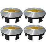 Jogo 4 Calota Miolo de Roda Agile Sonic Emblema Gm 51mm