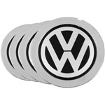 Jogo 4 Calota Miolo de Roda Cromado Audi A8 - Kromma Vw