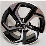 Jogo 4 Rodas Monaco Hyundai Creta Aro 16 5x114,3 Preto Diamantado Tala 6 Et40