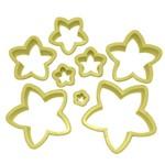 Jogo Cortadores de Pasta Americana e Biscuit Blue Star Estrela com 8 Peças