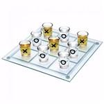 Jogo da Velha de Vidro com 9 Copinhos de Bebidas