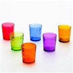 Jogo de 6 Copos Coloridos Bubble 420 Ml 6909