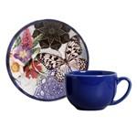 Jogo de 6 Xícaras de Chá com Pires Coup Colore