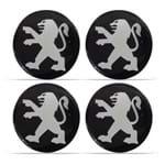 Jogo de Adesivo Emblema Resinado para Roda Peugeot - 51 Mm
