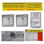 Jogo de Adesivos de Orientação Técnica - S10 Blazer 1996 a 2000 - a Álcool ou Gasolina