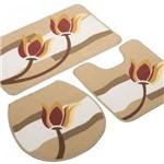 Jogo de Banheiro Requinte Tulipa 3 Peças