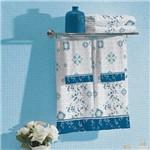 Jogo de Banho Estampado Safira Azul Lepper