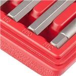 Jogo de Bits 11 Peças Spline Haste Sextavada 10mm CrV em Estojo Plástico - MTX